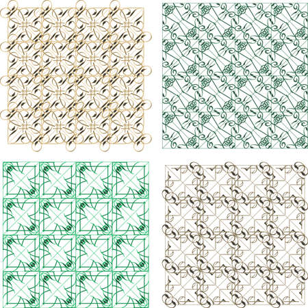 Seamless abstract pattern set for fabric and furniture photo