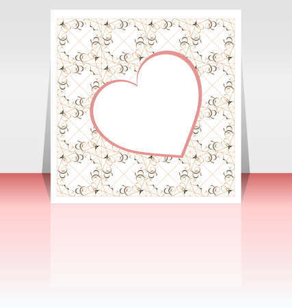 Abstract background or cover with love heart Stock Photo - 17432257
