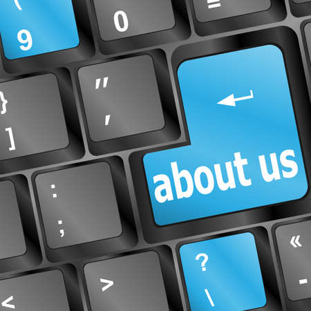 Keyboard with about us button, internet concept Stock Photo - 17432247