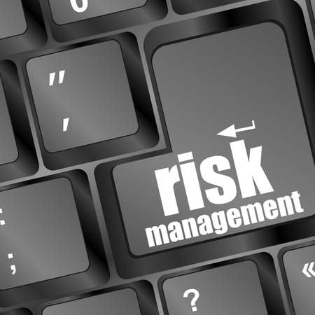 Keyboard with risk management button, internet concept Stock Photo - 17432171