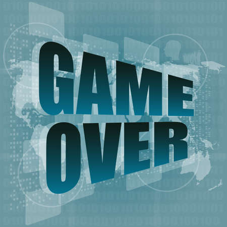 game over message on touch screen photo