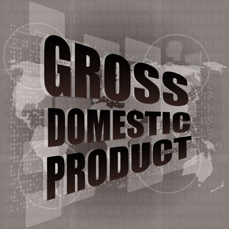 business concept: word gross domestic product on digital screen Stock Photo - 17598599