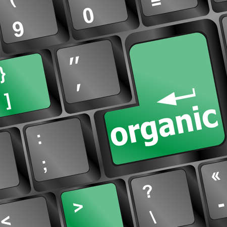 organic word on green and black keyboard button Stock Photo - 17598515