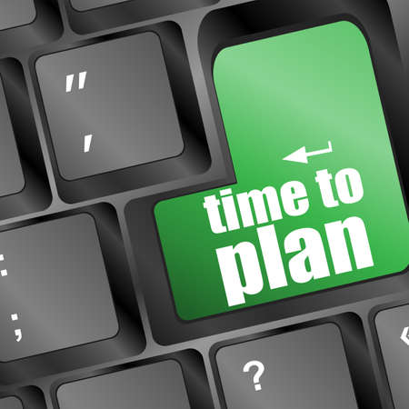future time to plan concept with key on computer keyboard Stock Photo - 17598535