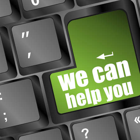 help button: we can help you written on computer button