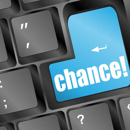 chance button on keyboard, business concept Stock Photo - 17598531