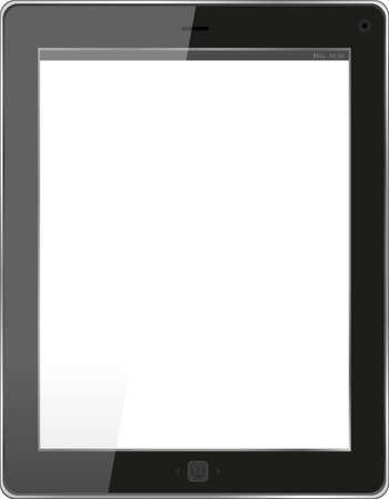 Realistic tablet pc computer with blank screen isolated on white background Stock Photo - 17598562