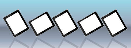 Tablet pc set on background Stock Photo - 17598537