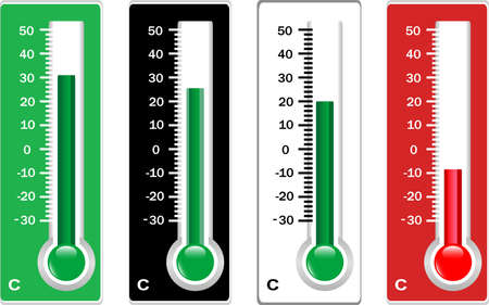 calibrated: thermometer set Stock Photo