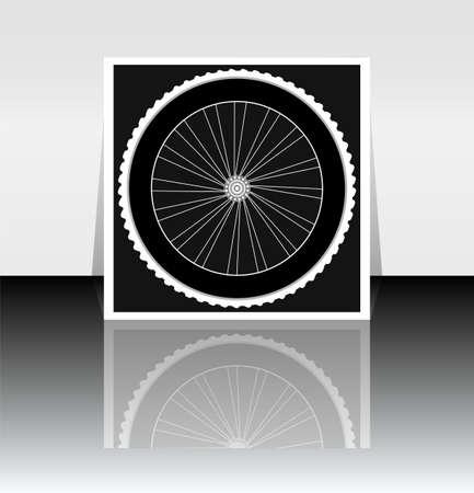 velocipede: Bicycle wheel icon symbol Stock Photo