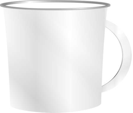 photorealistic white cup for logos and graphics Stock Photo - 17598597
