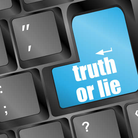Wording truth or lie on computer keyboard Stock Photo - 17658512