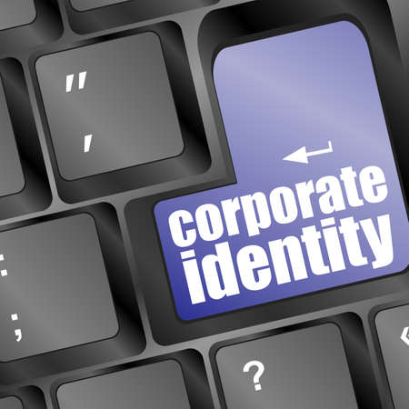 Wording corporate identity on computer keyboard photo