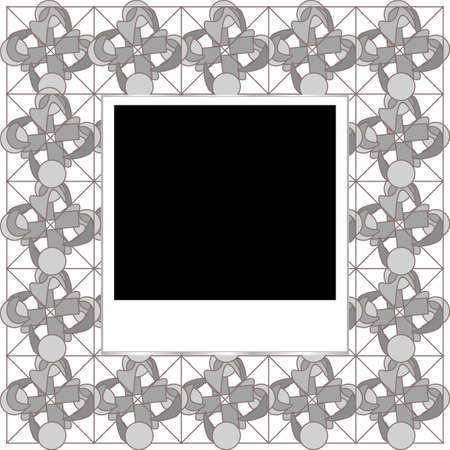 photo frame with abstract board texture photo