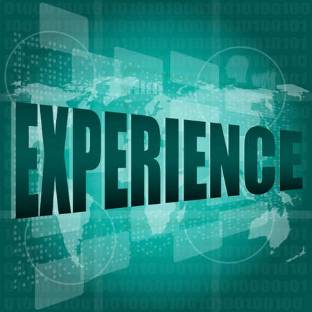business concept: words experience on digital screen photo