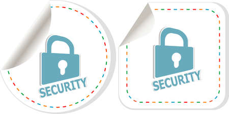 Padlock sticker icon set. ultimate security concept photo