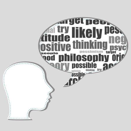 kingpin: Marketing plan in speech cloud with man head