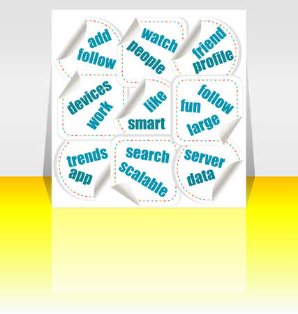 Social media concept stickers Stock Photo - 17781212