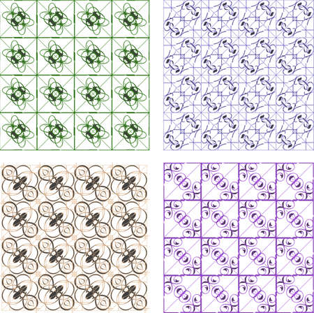 Seamless wallpaper pattern, set of four colors Stock Photo - 17781725