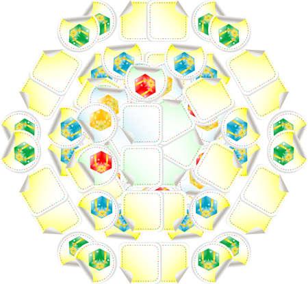 white, yellow, red gift box seamless pattern Stock Photo - 17782330