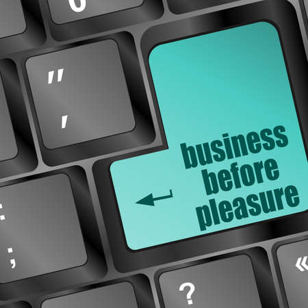 pornography: business before pleasure words on computer keyboard pc
