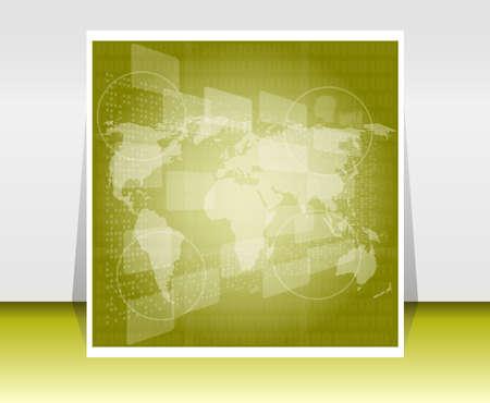 illustration world map. Concept communication illustration