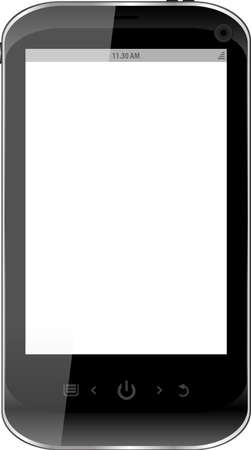Black smartphone isolated on white background Stock Photo - 17782128
