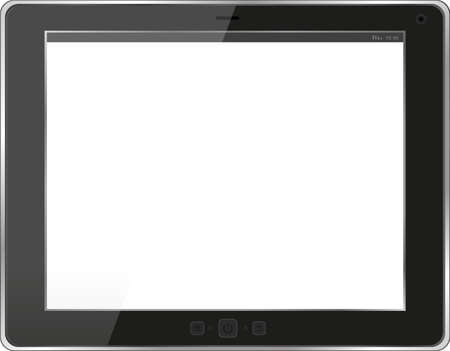 Black tablet pc on white background Stock Photo - 17781727