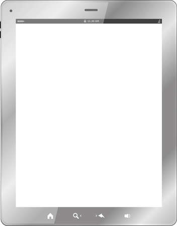 white tablet pc on white background photo