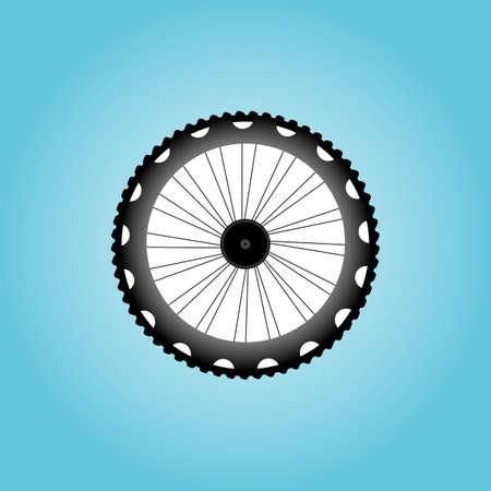 velocipede: Bicycle Wheel Symbol Stock Photo