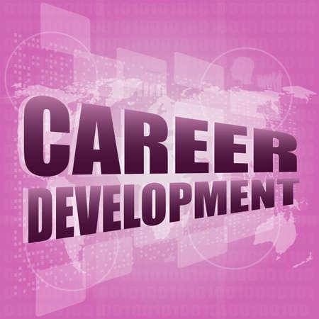 business concept: career development words on digital screen Stock Photo - 17782262