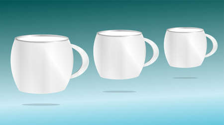 mug cup set with blank space for general purpose Stock Photo - 17782173