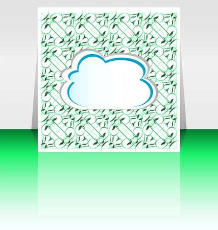 Flyer or cover cloudy vintage design illustration Stock Illustration - 17782327