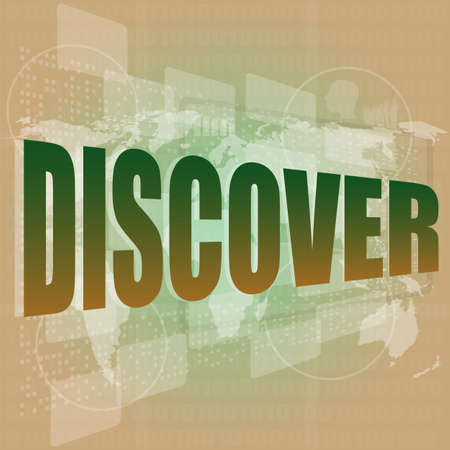 social concept  word discover on digital background Stock Photo - 17782522