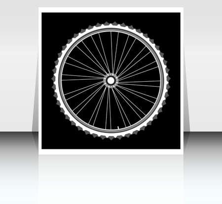 bicycle wheel black silhouette photo