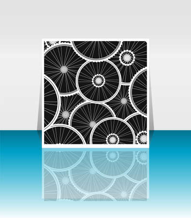 bike front wheel seamless wallpaper on flyer photo