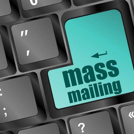 mailing: mass mailing keyboard computer pc button