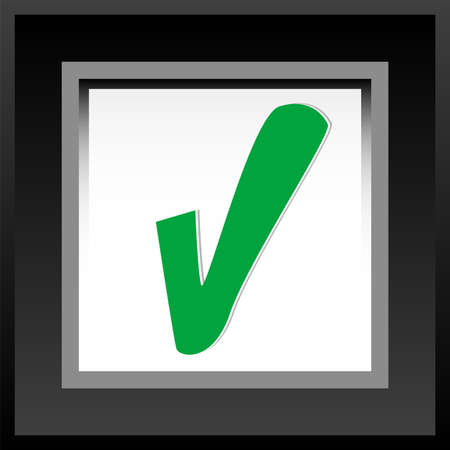 yes check mark: yes check mark, web application icons, approved idea business concept Stock Photo