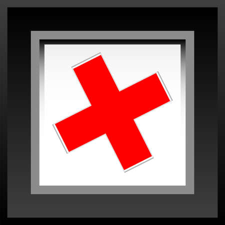 frame with red check mark or tick Stock Photo - 17782340