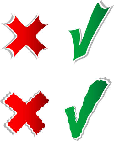 Check mark stickers set Stock Photo - 17915424