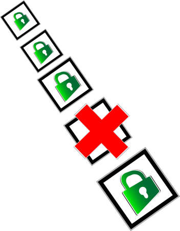 Check box with red and green check mark Stock Photo - 17915717