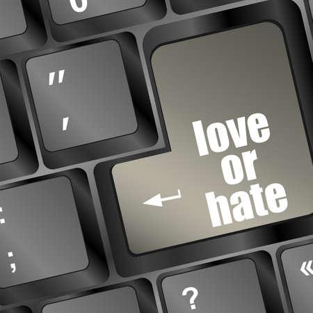 votaciones: amar u odiar relaciones impresiones comunicaci�n clasificaciones de ordenador opiniones del teclado Foto de archivo