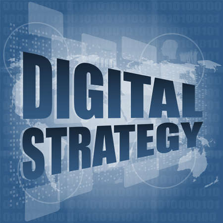 digital strategy word on digital touch screen photo