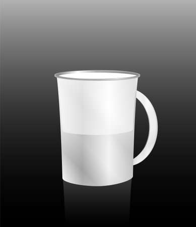 white cup on black Stock Photo - 18075979