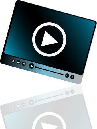 Media player interface with play button photo