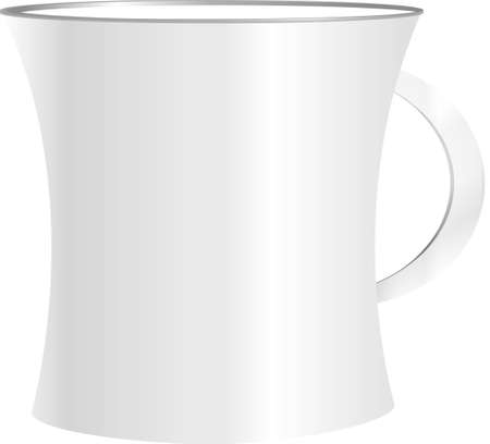 White cup isolated on white background Stock Photo - 18075976