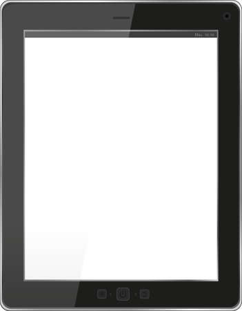 Tablet PC Isolated on White Background Stock Photo - 18075978