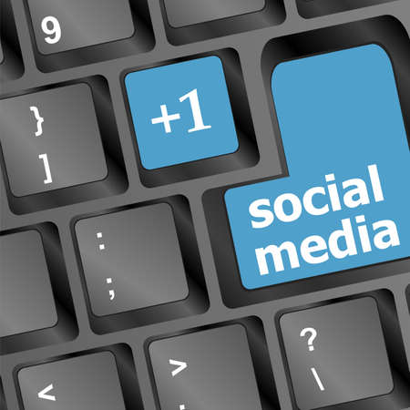 Social media keyboard button Stock Photo - 18218686