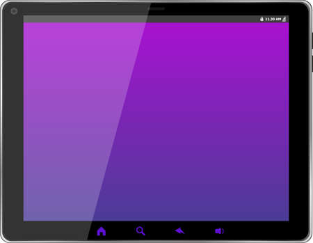Digital tablet with abstract blue screen photo