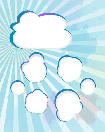 Cloud and blue rays - abstract background photo